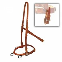 Marjoman Horse Straightness Training Leather Lunge Cavesson