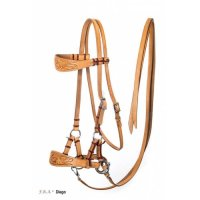 Diego Western Side Pull Bitless Bridle With Reins