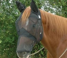 Crusader Quiet Ride Horse Fly Mask
