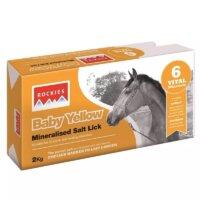 Rockies Baby Yellow Horse Salt Lick – 2kg